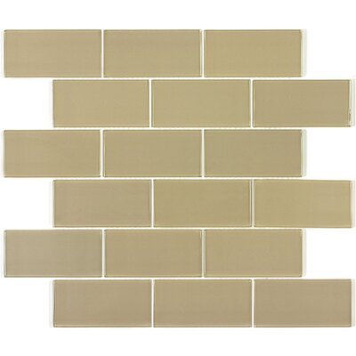 "Giorbello Subway 11.75"" x 11.75"" Tile Minis in Light Taupe"
