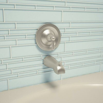 Club Random Sized Cristezza Glass Tile in Baby Blue
