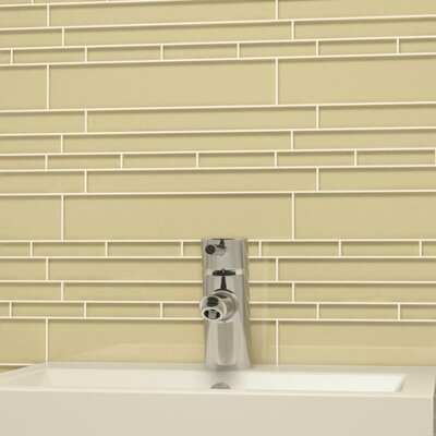 Club Random Sized Cristezza Glass Tile in Beige