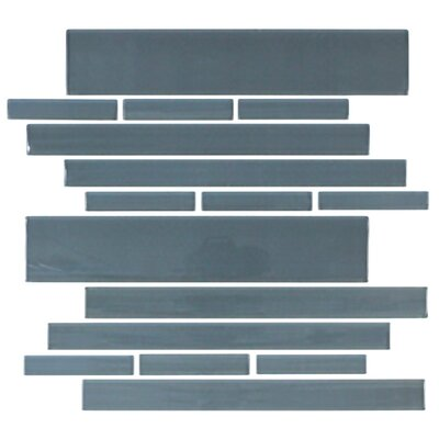 "Giorbello Club 10-1/2"" x 9-1/2"" Cristezza Glass Tile in Dark Slate"