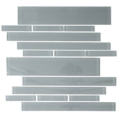 Club Random Sized Cristezza Glass Tile in Gray