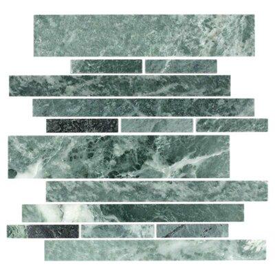 Giorbello Stone Club Random Sized Tile in Empress Green Marble