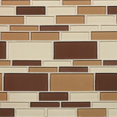 California Random Sized Cristezza Glass Tile in Coffee Aroma