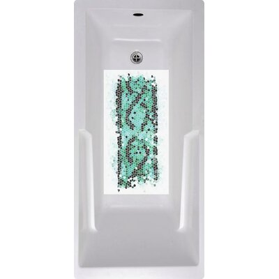 Abstract Mosaic Bath Tub and Shower Mat