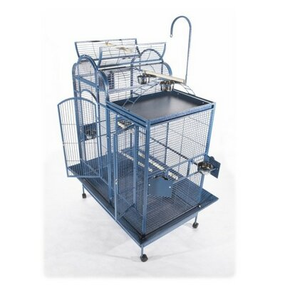 A&E Cage Co. Small Split Level House Bird Cage with Divider