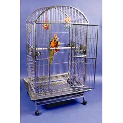 Enormous Stainless Steel Dome Top Bird Cage