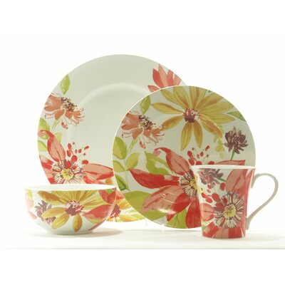 Summer Daisies 16 Piece Dinnerware Set