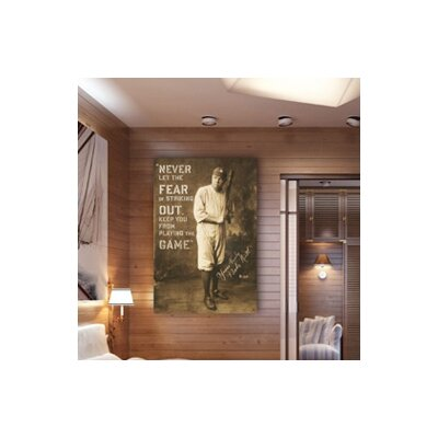 Oliver Gal Babe Ruth Quote Textual Art on Canvas