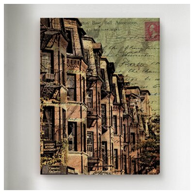"Oliver Gal ""Boston Brownstone"" Graphic Art on Canvas"