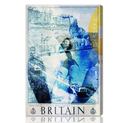 ''Britain'' Graphic Art on Canvas