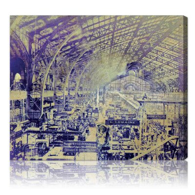 ''Paris Universel Expo'' Graphic Art on Canvas