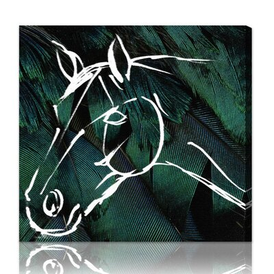 ''Horse'' Graphic Art on Canvas