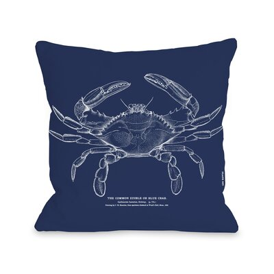 The Common Blue Crab Pillow