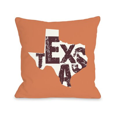 Texas State Type Pillow