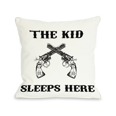 The Kid Sleeps Here Pillow