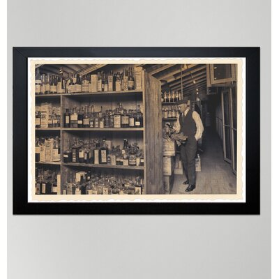 Oliver Gal ''All those Old Bottles'' Framed Art Printed