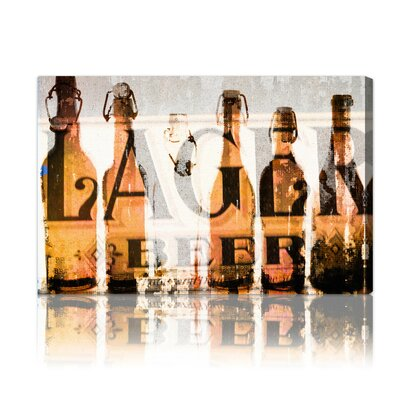 "Oliver Gal ""Birra"" Graphic Art on Canvas"