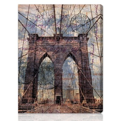 "Oliver Gal ""Brooklyn Bridge"" Graphic Art on Canvas"