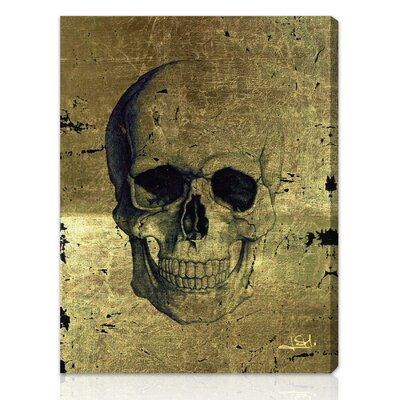 ''Calavera de Oro'' Graphic Art on Canvas