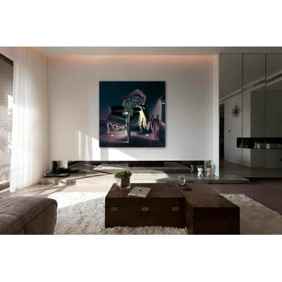 "Oliver Gal ""Champagne Leather"" Graphic Art on Canvas"