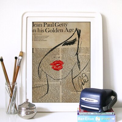 """Oliver Gal """"Fashionista"""" Graphic Art on Canvas"""