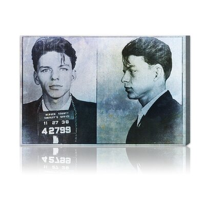 Oliver Gal ''Frank Sinatra Mugshot'' Graphic Art on Canvas