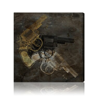 Oliver Gal ''Gold Revolver'' Canvas Wall Art