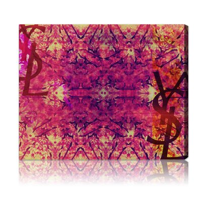''Jardin Majorelle'' Graphic Art on Canvas in Pink