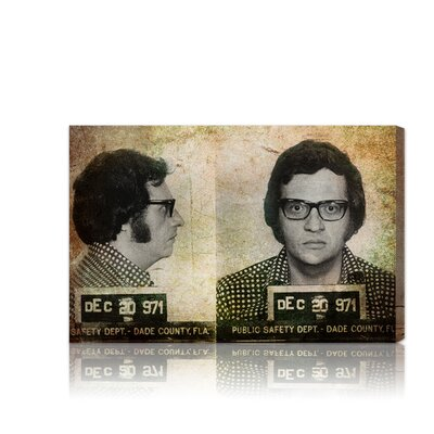 ''Larry King Mugshot'' Graphic Art on Canvas