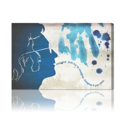 ''Lennon'' Graphic Art on Canvas