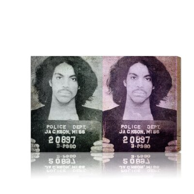 ''Prince Mugshot'' Graphic Art on Canvas