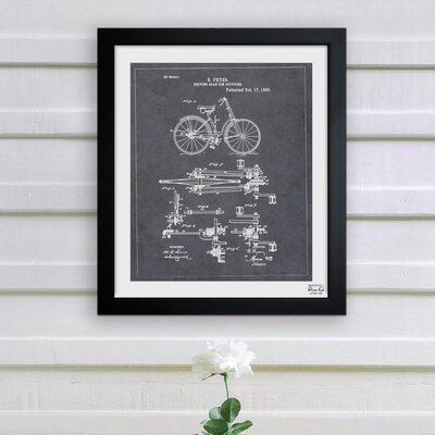 Oliver Gal ''Fryer, Driving Gear for Bicycle, 893'' Framed Graphic Art