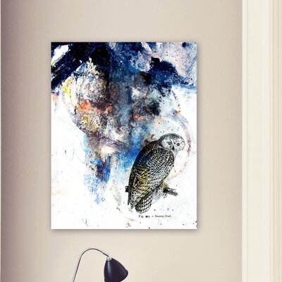 "Oliver Gal ""Snowy Owl"" Canvas Wall Art"