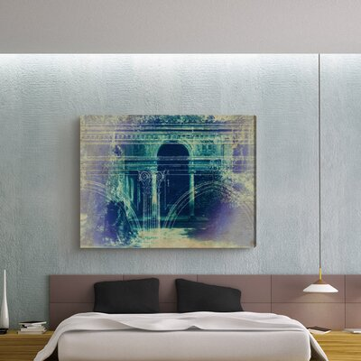 "Oliver Gal ""Villa Lante"" Graphic Art on Canvas"