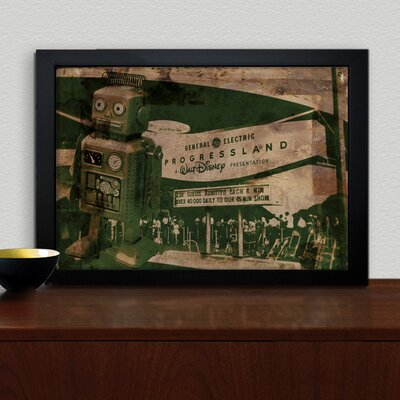 Oliver Gal ''Progressland'' Framed Vintage Advertisement