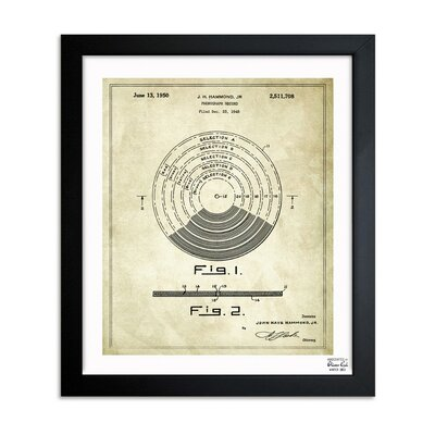 Vinyl Record 1948 Framed Graphic Art