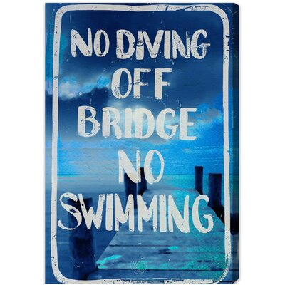 No Diving Textual Art on Canvas