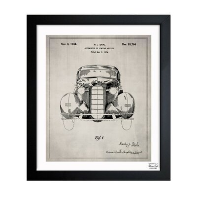 Automobile II 1934 Framed Graphic Art