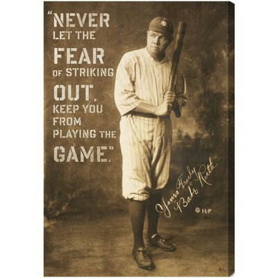 Babe Ruth Quote Textual Art on Canvas