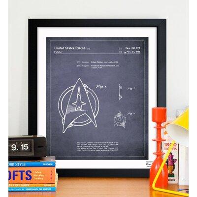 Oliver Gal Starfleet Insignia 1981 Framed Graphic Art