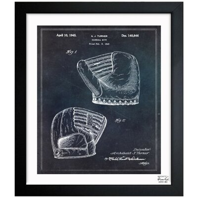 Baseball Mitt 1945 Framed Graphic Art
