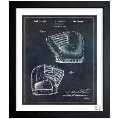 Baseball Mitt 1945 Framed Graphic Art