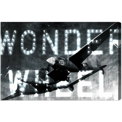Wonder Wheel Textual Art on Canvas