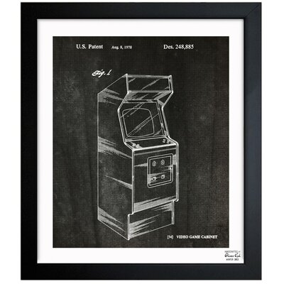 Game Cabinet 1978 Framed Graphic Art