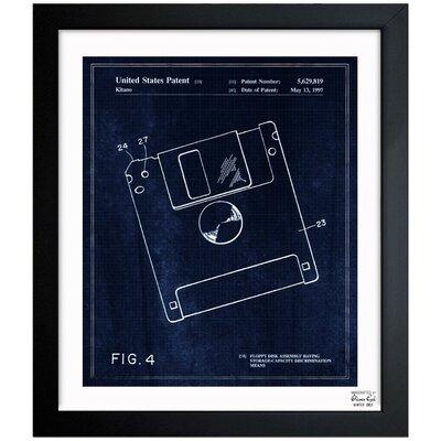 Floppy Disk 1997 Framed Graphic Art