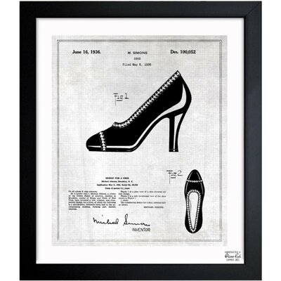Iconic Design for a Shoe 1936 Framed Graphic Art