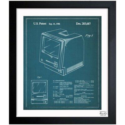 Apple Macintosh 128K 1986 Framed Graphic Art