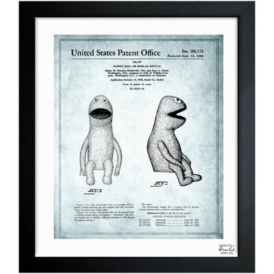 Jim Henson Puppet Doll II 1958 Framed Graphic Art