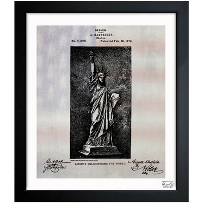 Statue of Liberty 1879 Framed Graphic Art