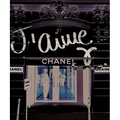 "Oliver Gal ""31 Rue Cambon"" Graphic Art on Canvas"